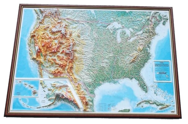 Raised Relief map of US