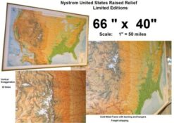 NYSTROM Raised Relief Maps (Limited supply)
